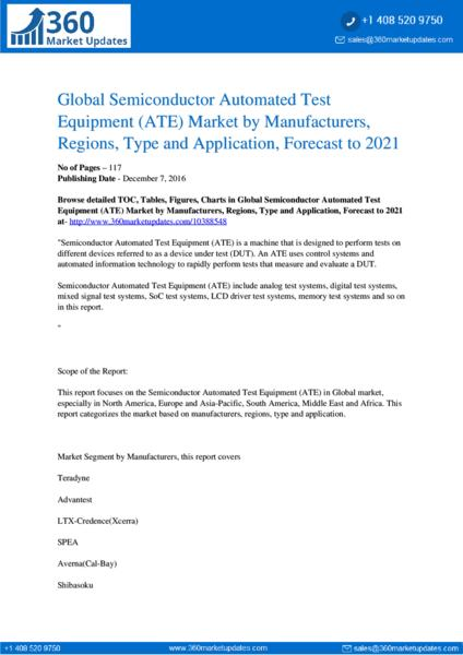 Semiconductor Automated Test Equipment (ATE) Market