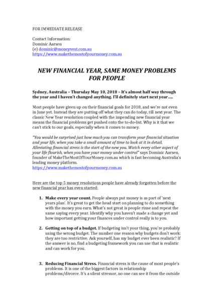 new financial year same money problems the top 5 money resolutions people have already forgotten