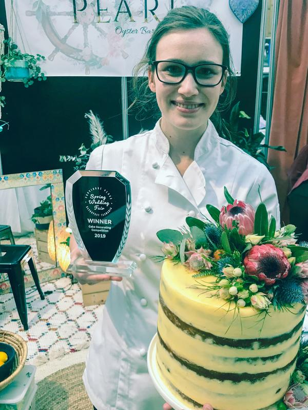 Pearl Wins Best Wedding Cake in Devonport Decorating Competition