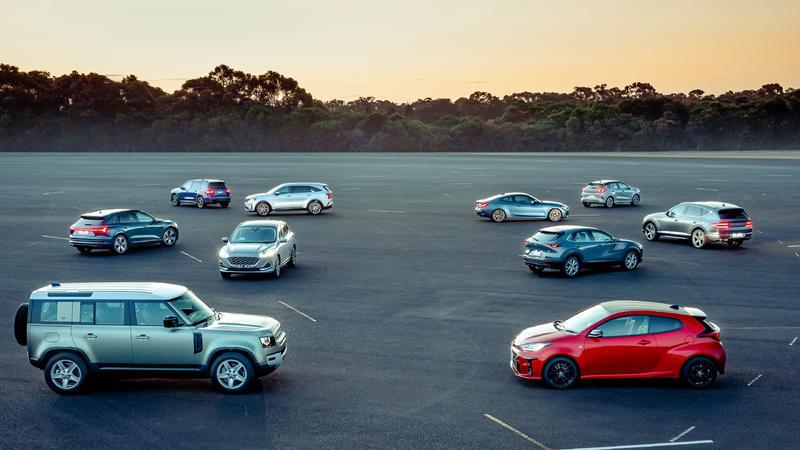 Wheels Car of the Year finalists Audi e-tron, BMW 4 Series, Ford Escape, Ford Puma, Mazda CX-30, Genesis GV80...